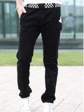 Stylish New Men Low Waist Cotton Straight Long Pants