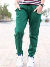 Wholesale New Arrival Pure Color Slim Fit Pants