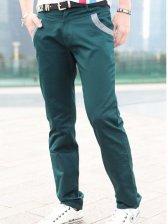 Hot Sale Men Korea Stylish Color Block Slim Fit Pants