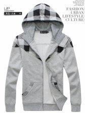 Wholesale 2012 Plaid Color Block Fashionable Men Coats