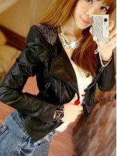 Korean Style Epaulet Design Side Zipper Slim Jacket