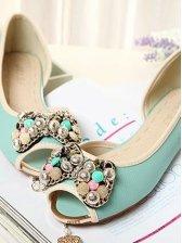 Japan New Sweet Women Rhinestone Flat Shoes