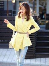 Korea New Vogue Front Open Slouchy Short Coat