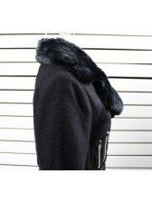 New Arrival Turn Collar Pure Color Slim Fit Short Coat