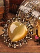 Hot Sale Flower Edge Love Shape Design Necklace