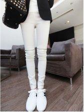 Hot Sale Back Pockets Zipper Slim Legging