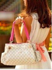 New Lady's Retro Fashion Color Block Hand Bag