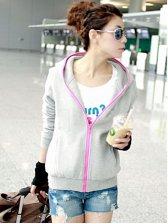 Newest Korean Fashion Zipper Skinny Hoodie