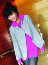 Wholesale Fashionable Asymmetrical Two-piece Coat