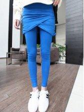 Charming Women Pure Color Stretchy Leggings Pantskirt