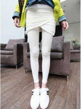 Korea New Vogue Front Cross Fitted Leggings Pantskirt