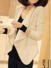 Women Fashion Shawl Collar Casual Short Coat