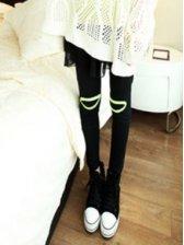 Stylish Lady's Knee Open Patched Gauze Skirtpant