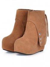 Fashion Arrival Rivet Design Back Zipper Wedge Boots