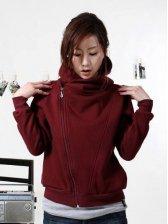 Korean Fashion Pure Color Long Sleeve Hoodies