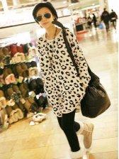 Korean Fashion Round Neck Leopard Hoodies