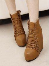 Stylish New Side Zipper Platforms Martin Boots