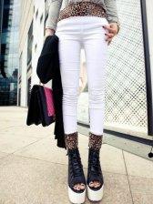 Brand New Leopard Splice Slim Leggings