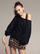 Autumn Fashion Leopard Three-quarter Sleeve Two-piece Set