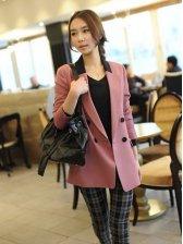 2012 New Pretty Trim Collar Color Block Small Suit