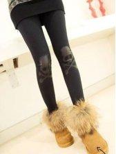 Fashion Arrival Skull Patch Slim Stretchable Legging