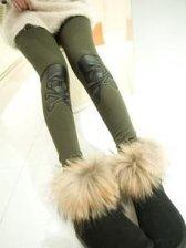 New Style Skull Patch Slim Stretchable Legging