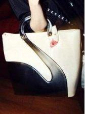 Western Stylish Lady's Fashion Zipper Open Handbag