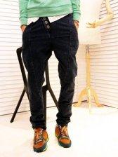 New Popular Men Single-breasted Harem Denim Jeans