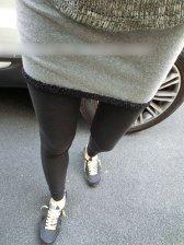 Hot Sale Color Matching Min Skirt+Slim Legging