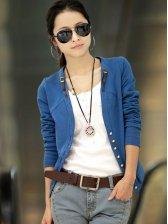 Women Fashion V-neck Fitted Short Coat