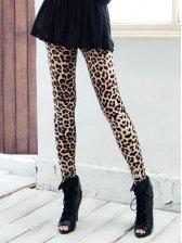Winter Style Leopard Printing Slim Stretchable Legging