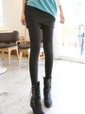 New Fashion Asymmetrical Tailoring Slim Mini Skirt+Slim Legging