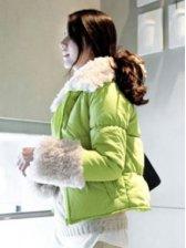 Salable Girl's Hooded Slim Cotton Short Coat