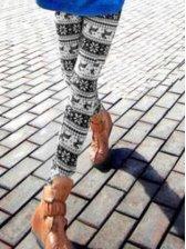 Stylish New Women Deer Print Thickening Slim Leggings