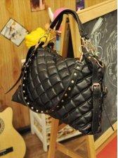 Classic Lady Fashion Plaid Texture One Shoulder Bag