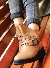 Fashion Arrival Rivet Design Belt Buckle Short Boots