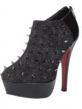 Stylish Women Back Zipper Rivet High Heel Boots