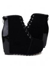 Autumn Fashion Back Zipper Round Toe Short Boots
