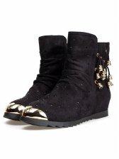 New Pretty Round Toe Rhinestone Short Boots