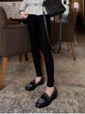 Hot Sale Western Girl's Pure Color Slim Legging