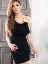 Sexy Style Women Studded Sleeveless Dress