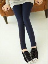 2012 Hot Sale Pure Color Side Zipper Legging