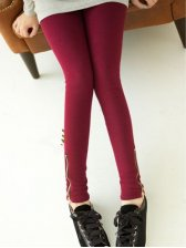 Wholesale Pure Color Side Zipper Legging