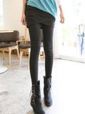 Romantic Cross Hem Wrap Slim Fit Leggings