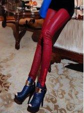 2012 New All-Matched Pure Color Zipper Legging