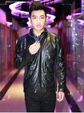Stylish Fashion Men Stand Collar Zipper Jacket