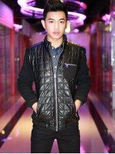 Fashion New Men Stand Collar Zipper Jacket
