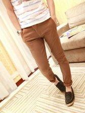 Hot Sale Pure Color Zipper Pockets Casual Pants