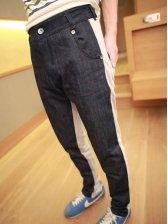 Fashion Arrival Color Matching Pockets Design Long Pants