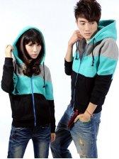 2012 New Autumn Style Color Block Couple Hoodies